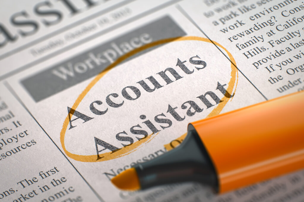 Accounts Assistant Join Our Team. 3D.